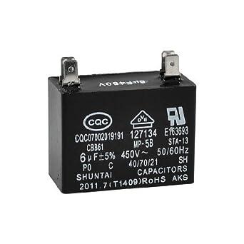 DealMux CBB61 450VAC 6uF 4 Pin del acondicionador de aire del ...