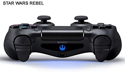 MightyStickers? 2X PS4 Designer Light Bar Decals LED Remote DualShock 4 Wireless Controller Star Wars Rebel Logo Stickers PlayStation 4 by MightyStickers: Amazon.es: Videojuegos