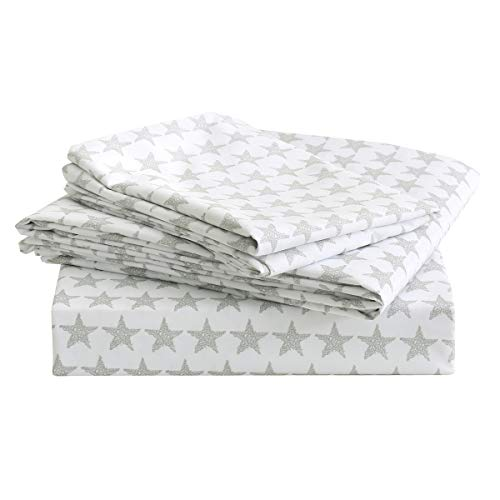 Vonty Kids Cartoon Stars Twin Size Bed Sheet Set Soft Microfiber Boys and Girls Flat Sheet + Fitted Sheet + Pillowcase Bedding Set by Vonty
