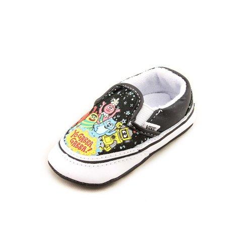 Vans Infant Yo Gabba Gabba Slip-On, Black/True White-2 Infant]()