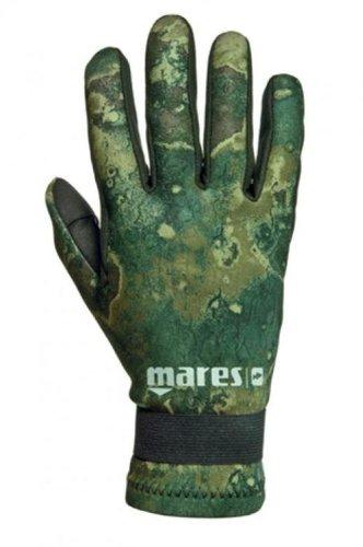 2 Mm Five Finger - Mares Pure Instinct Amara 2mm Camo Green Five Finger Gloves (Large)