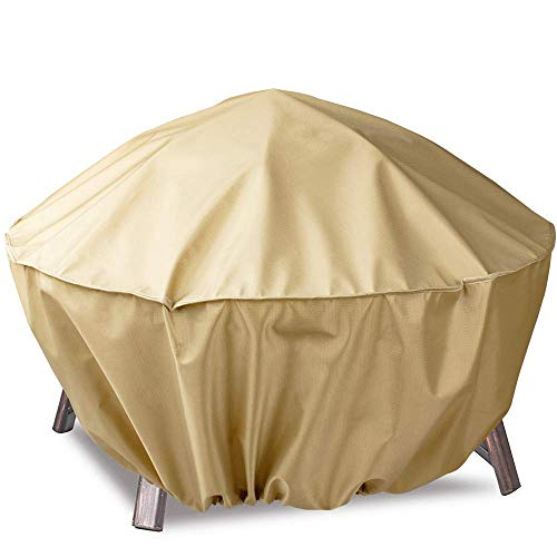 Hentex Fire Pit Cover Round/Table Cover, Heavy Duty Patio Table Cover,40