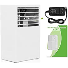 SUPOW Air Humidifier Cooler, Desktop Bladeless Fan Mini 9.5 inch Noiseless Small Air Conditioner for Summer. (white)