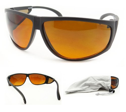 Blue Blocking Wrap Around Sunglasses with Side Shield. Free Microfiber Cleaning Case - Blocker Around Sunglasses Blue Wrap