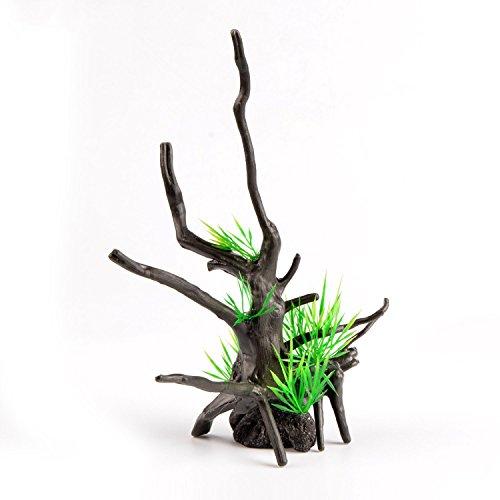 Saim Aquarium Plastic Plant Artificial Tree Branches Root Fish Tank Ornament 9.5