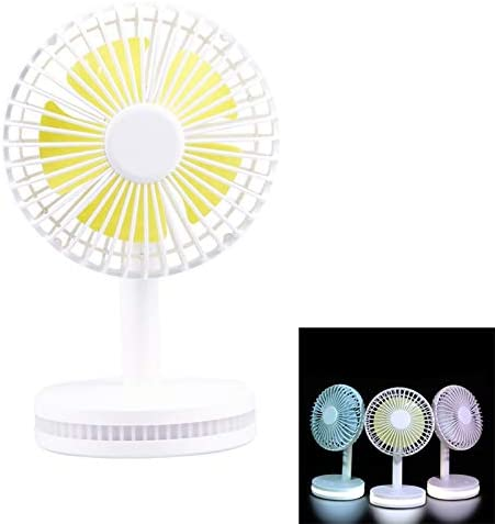 HUANGYUNCHAO Accesorios para el hogar y el jardín Ventilador de luz del Sol Moderna de lámpara de Mesa con USB con 3 velocidades (Color : Blanco): Amazon.es: Hogar