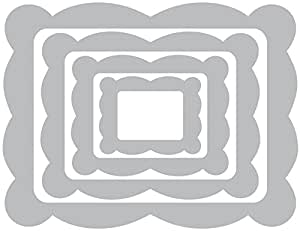 Sizzix Rectangle Framelits Die, Scallop Frame, 4/Pack
