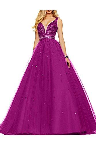 Abschlussballkleider Abendkleider Promkleider Orange Ausschnitt mia V Pailletten Wassermelon Braut Abiballkleider Damen La 0w4yqzfp