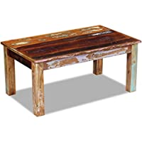 Festnight Reclaimed Wood Coffee End Table Living Room Side Table, 39.4x 23.6x 17.7