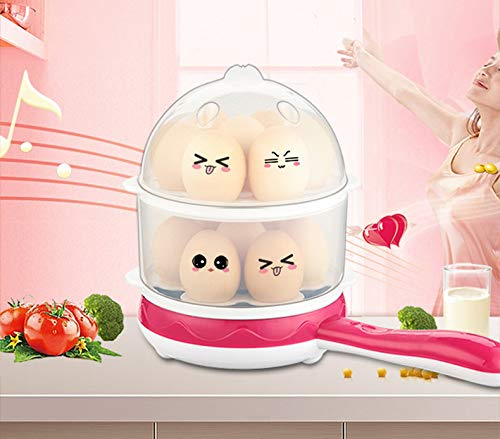 ZYJ Multifunction Egg Boilers, Household Egg Cooker Single Layer Timing Automatic Power Off Multi-Function Breakfast Machine Egg Machine for Kitchen