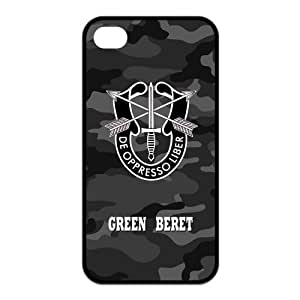 Custom Your Own Personalized Unique Green Beret Silicone iPhone 4/4S Durable Case Cover
