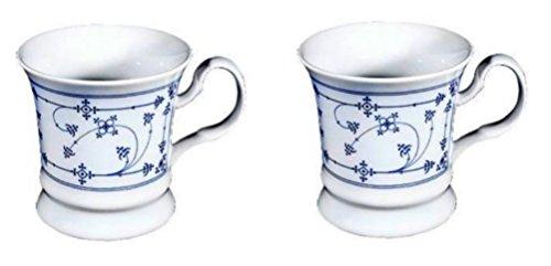 2 Stück- Porzellan- Tasse, Kaffeepott, Becher- indisch blau ...