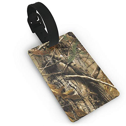 (Realtree Camouflage Camo Custom Luggage Tag, Luggage Tags Labels W/Privacy Cover For Travel Bag Suitcase)