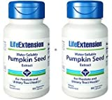 Life Extension Water-Soluble Pumpkin Seed Extract 60 Vegetarian Capsules (Pack of 2)