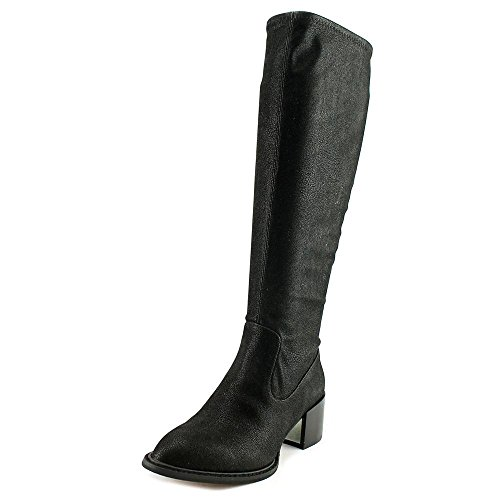 Black SUNSHINE Fashion Almond Boots BCBGeneration Womens LONDON Mid Calf STRETCH Toe AqB85BH