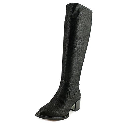 Bcbgeneration Womens Sun Almond Toe Stivali Moda A Metà Polpaccio Nero Londra Stretch