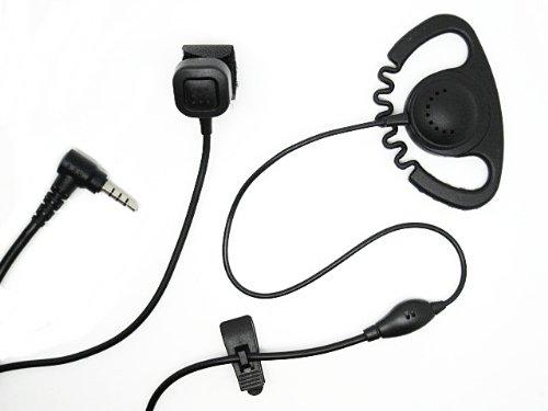 D-ring Microphone with Finger PTT for Vertex / Yaesu radio