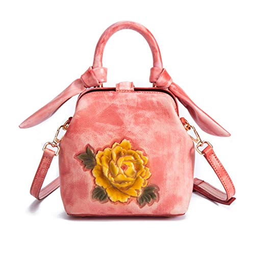 Bolsos Florales Diseñador Vintage Para Mujeres Asa De Pollusui color Bandolera Red Yellow Top Adwq5xRAt
