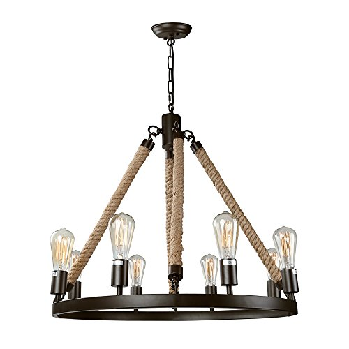 LNC Vintage Chandeliers 8-Light Kitchen Island Chandelier Lighting Rustic Pendant Lighting  sc 1 st  Amazon.com & Farmhouse Kitchen Lighting: Amazon.com