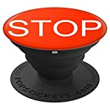 Stop Red Stop Sign - For Back To School - PopSockets Grip and Stand for Phones and Tablets