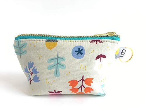 Handmade Fabric Handbags - Charlie Change Purse Acorn Print, Change Purse, Zippered Pouch, Zippered Handbag, Fabric Accessories, Accessories, Cosmetic Bag