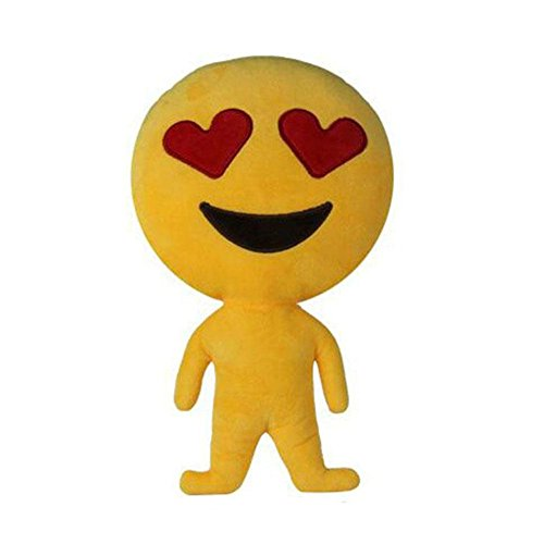 ZhiDa Stuffed Plush Doll Cushion Emoji Pillow Heart Eyes Doll Toy (Cat Soft Costume)