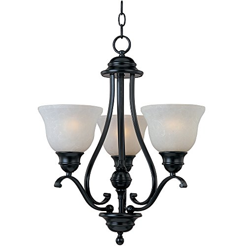 Maxim 11804ICBK, Linda, 3-Light Chandelier, Black