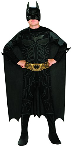 Rubie's Costume 886360_STD The Dark Night Rises Teen Batman Costume (Mens Black Spiderman Costume)