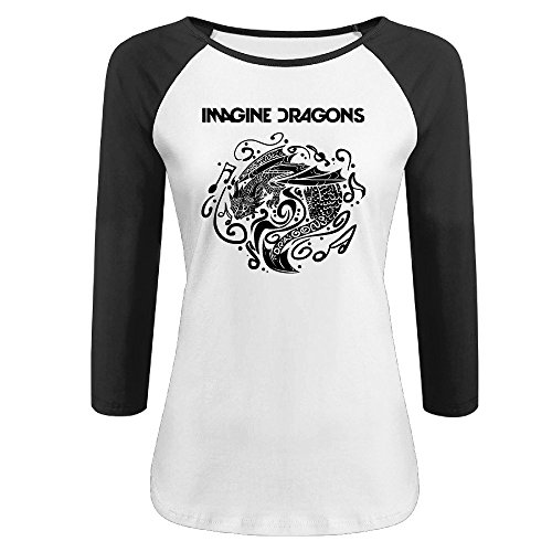 Price comparison product image KONGYII Lady Imagine Dragons Logo 100% Cotton Raglan Tshirt