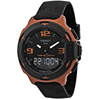 Tissot T-Race Touch Black Dial Orange Rubber Men's Watch