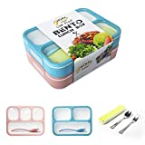 Leakproof Bento Lunch Box Container For Kids and Adult –2 Leakproof Containers