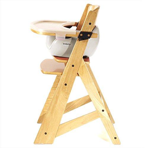 Keekaroo Height Right Highchair with Insert & Tray - Vanilla - Natural Base by Keekaroo (Image #2)
