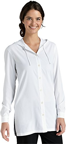 Coolibar UPF 50+ Women's Beach Shirt - Sun Protection (XX-Large - Mainsail White)