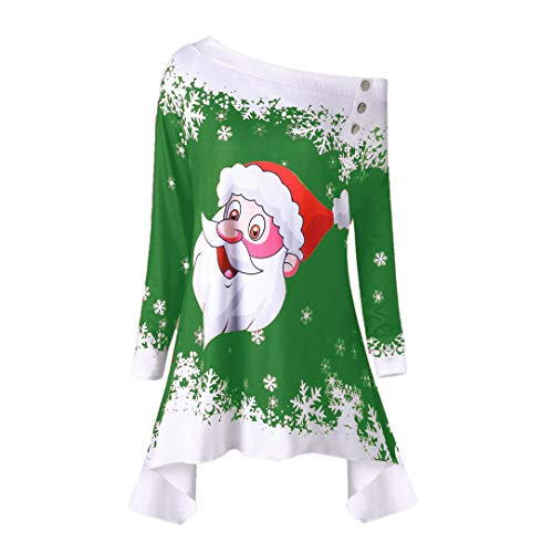Limsea 2018 Fashion Women Santa Claus Snowflake Skew