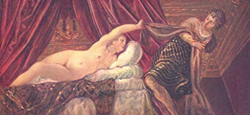 (Home Comforts Peel-n-Stick Poster of Tintoretto, Jacopo - Joseph and Potiphar's Wife Vivid Imagery Poster 24 x 16 Adhesive Sticker Poster Print)