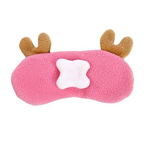 Put Together Costumes At Home (Qiaoshiren Sleep Mask, Eye Mask, Cute Cartoon Plush Big Eyes Sleep Goggles, Rest Shading Eye Ice Pad goggles Qiao Minibus 4 Pcs)