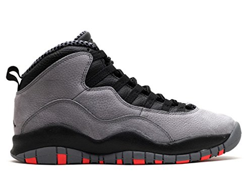 Nike Mens Air Jordan Retro 10 Cool Grey/Infrared-Black Leather Basketball Shoes Size 10 (Retro 10 Air Jordan Men)