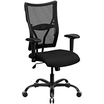 Flash Furniture HERCULES Series Big U0026 Tall 400 Lb. Rated Black Mesh  Executive Swivel Chair