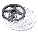 LE 16.4ft LED Light Strip, 12V Flexible LED Tape 6000K Daylight White, 300 Units SMD 2835 LED, Non Waterproof LED Ribbon, for Home, Car, Bar, Christmas, Holiday Decor, Power Adapter Included