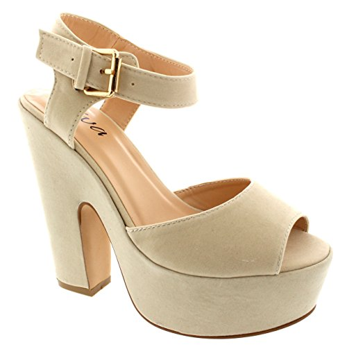 Womens Pumps Evening Ankle Strap Shoes P - Suede Platform Shoe Shopping Results