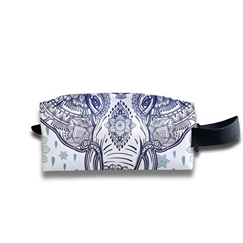 Makeup Bag Heart Wolf Boho Ethnic Elephant Holder Stationery Pencil Pouch Travelling Multi-Functional Cosmetic Bags ()