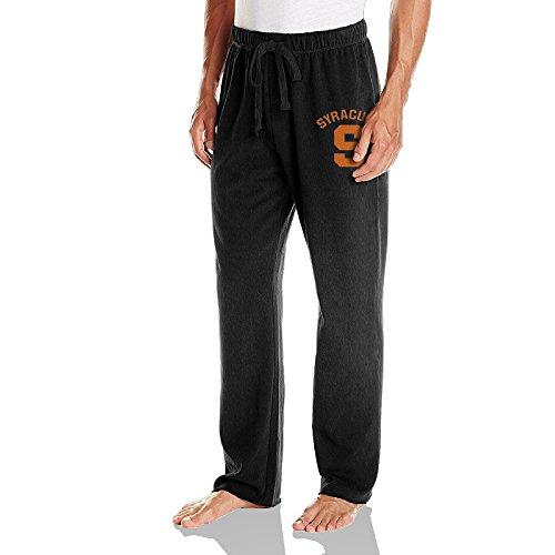 Vinda Men's Workout Pants Syracuse S Logo University Black Size XL