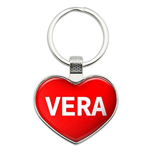 Metal Keychain Key Chain Ring I Love Heart Names Female V Vada - Vera