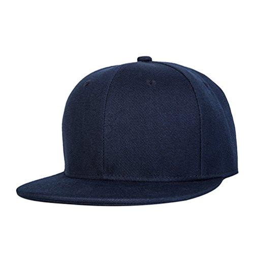 Hop Hats Snapback Béisbol Marino Gorras Accesorios Cap Clásico Hats Baseball de Hip Sombrero Plano Azul LINNUO Unisex wO1qfw