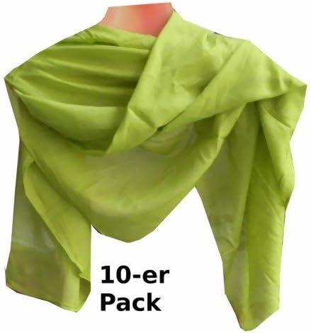 indischerbasar.de Pañuelos Verde Claro Pack 10 algodón 100x100 cm ...