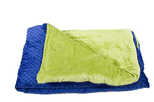Harkla Weighted Blanket for Kids (5lbs) - Helps with Anxiety, Autism, Sleep Issues, ADHD - Great for Sensory Processing Disorder - Price Include Duvet Cover & Weight