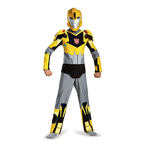 Animated Halloween Costumes (Disguise 85560K Bumblebee Animated Classic Costume, Medium (7-8))