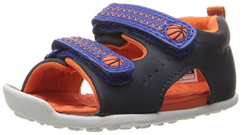 Stage 3 Sandal - Carter's Every Step Stage 3 Boy's Walking Shoe, Wilson, Navy/Blue/Orange, 6 M US Toddler