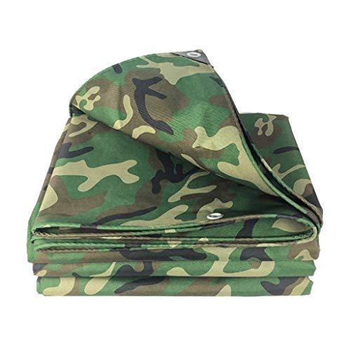 JLDNC Heavy Duty Waterproof Camouflage Tarp, Camouflage Tarpaulin Cover with Grommets,15mil Multi-Purpose PVC Rubberized Tarpaulin/Waterproof Fireproof Sunscreen,9x21Ft/3x7m