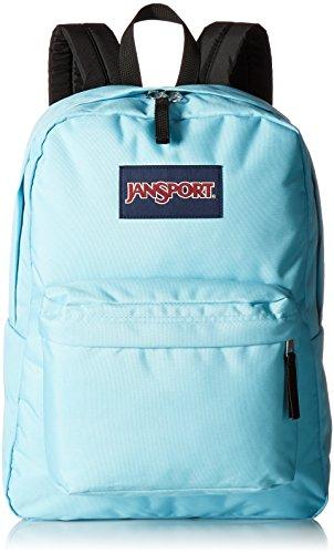 light blue jansport backpack - 1